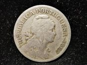 Portugal, One Escudo 1927 (Scarcer Year), Fair, WE6081